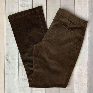 J. Crew brown corduroy pants size 14 tall